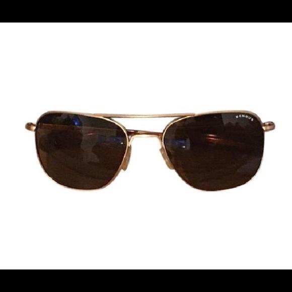 ab8903ded Benrus Accessories | Gold Aviator Sunglasses | Poshmark